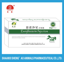 Antibiotic veterinary enrofloxacin liquid injection for livestock in 2015