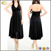 OEM wholesale Women's double layered skirts Sexy Halter Neck designer one piece party dress