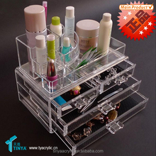 wholesale acrylic cosmetic display cabinet and showcase with drawer