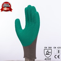 wholesale safety nylon women latex coated garden gloves