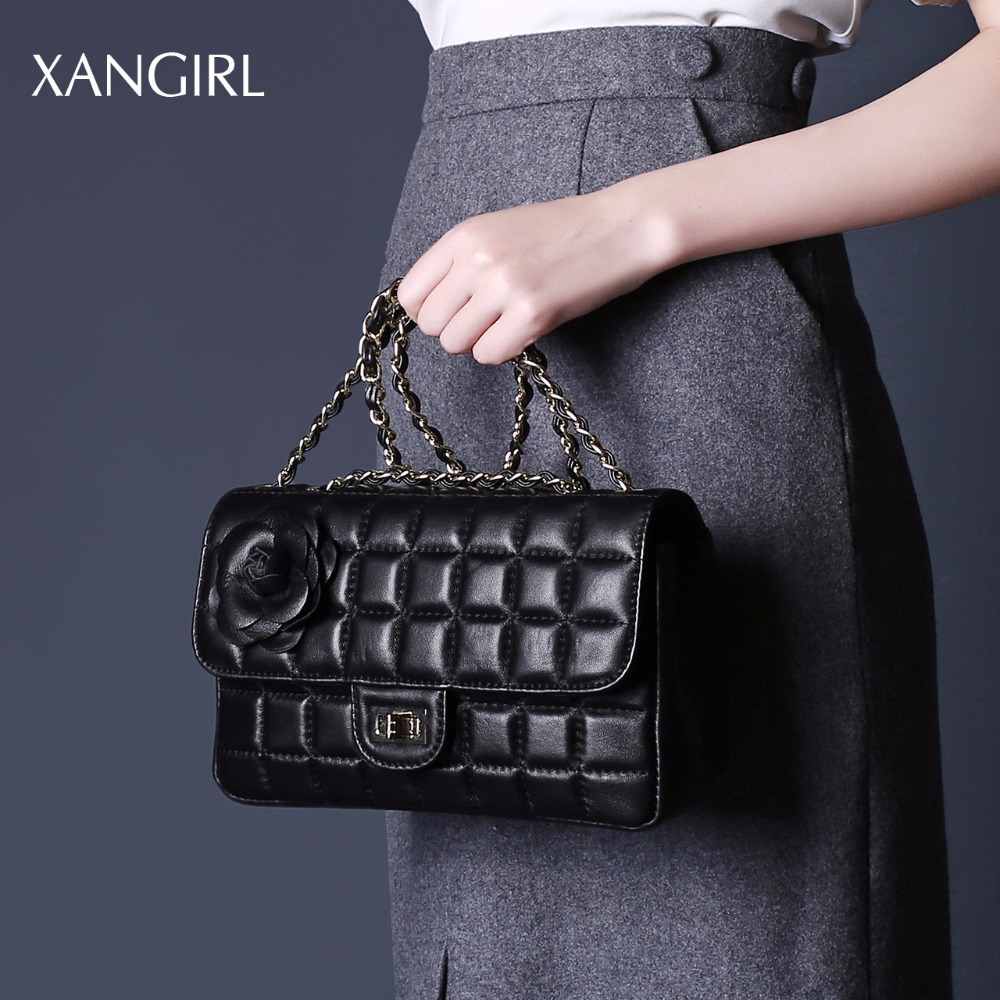 Women messenger handbags black genuine leather wholesale clutch purses