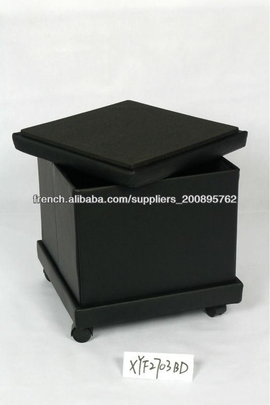 pouf de rangement avec plateau tabourets et bancs id de. Black Bedroom Furniture Sets. Home Design Ideas