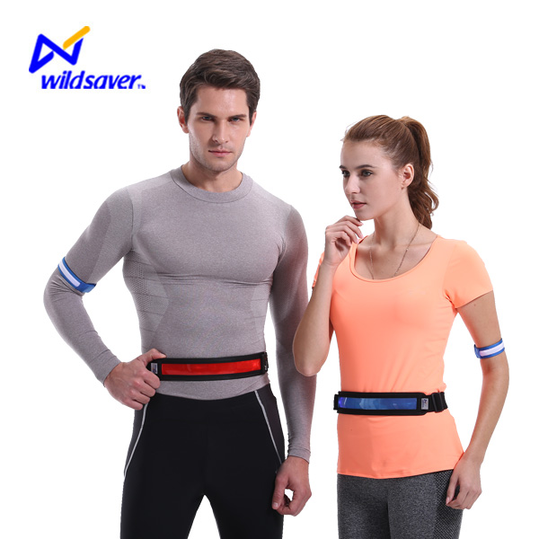led lighting waterproof elastic running sport glowing belt