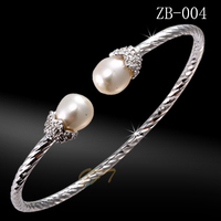 Latest design 925 sterling silver bangle bracelets for women