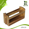 Tabletop Wood Multipurpose Home Storage Box Shelf Wooden Spice Rack