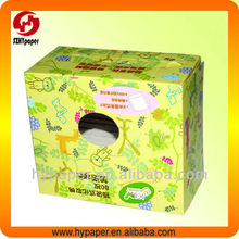 Cotton pad packaging box