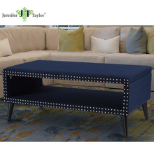 Jennifer Taylor fabric storage bench New Modern coffee table living room furniture