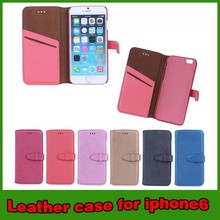 Wholesale wallet belt clip leather case cover for apple iphone 6 case