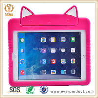 Lovely cartoon style eva foam cover case for ipad air tablet