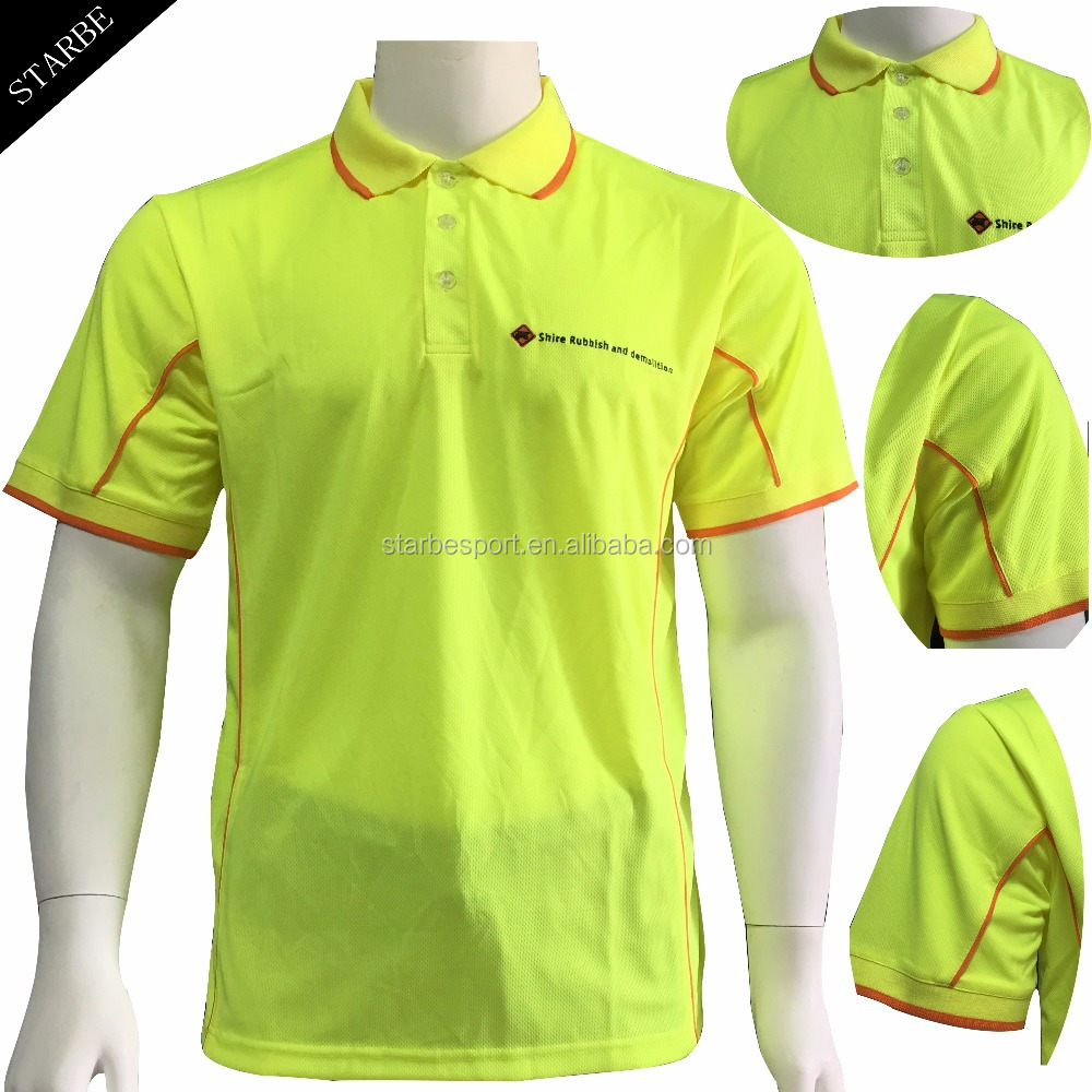 Customized Dry Fit Fluorescent Color Polo Shirts Buy Fluorescent