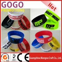 Adversiting Gift Hot Custom Silicone Bracelet Colorful Silicone Wristband, Bulk Cheap One Inch Silicone Wristbands