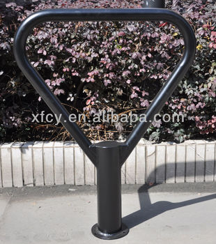 outdoor used floor bike rack with anti-corrosive surface treatment