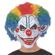 X-MERRY Halloween Masquerade Carnival Mask Fans Cosplay Clown Wig Head Explosion