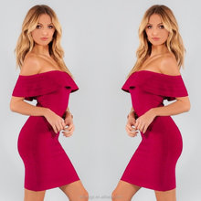 2017 New Women Strapless Off The Shoulder Sexy Bodycon Evening Party Bandage Dress