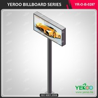 street pole advertising outdoor advertising galvanized steel billboard stand