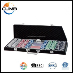 500pcs poker chips ,premium poker chip set in PU leather case