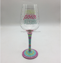 wholesale colored cheap glass goblet