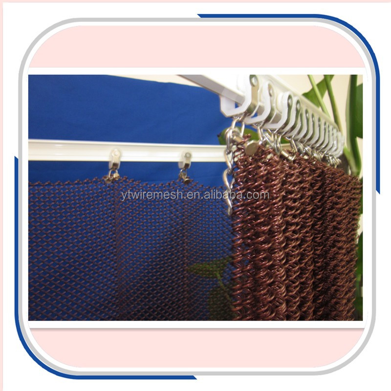 Curtain Wall Wire Mesh / Metal Mesh Fabric / Facade Decorative Drapery