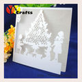 Pure white pearl paper laser die paper lace Christmas Day festival party invitation card