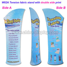 Advertising banner display portable tension fabric display stand