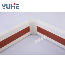 steel flat bar stair vinyl collapsible handrail covering