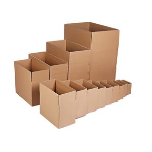 Wholesale custom printing design shape plain carton shipping packaging corrugated paper box