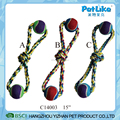 Soft Chewing New Colorful braided cotton rope 2 balls dog toys