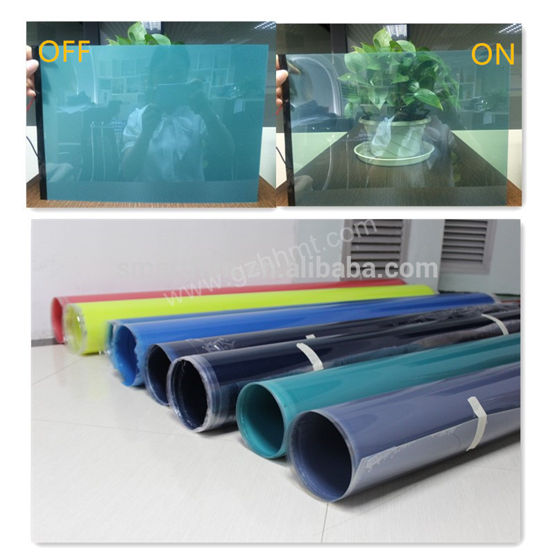 Electric switchable safety window decorative film self adhesive privacy electric pdlc tinting for glass security solar film