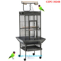 2016 New Style Wholesale Middle Size Play Top Metal Parrot Cage