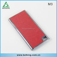 Aluminum hard plastic case for xiaomi, for M3 retro hard leather case
