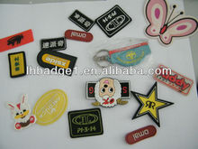 Clothing PVC rubber patch,rubber label