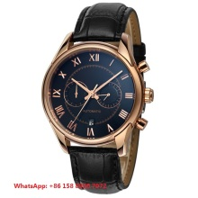 Fashion Japan automatic 316Lstainless steel case with genuine leather strap waterproof men's mechanical watches FS1001