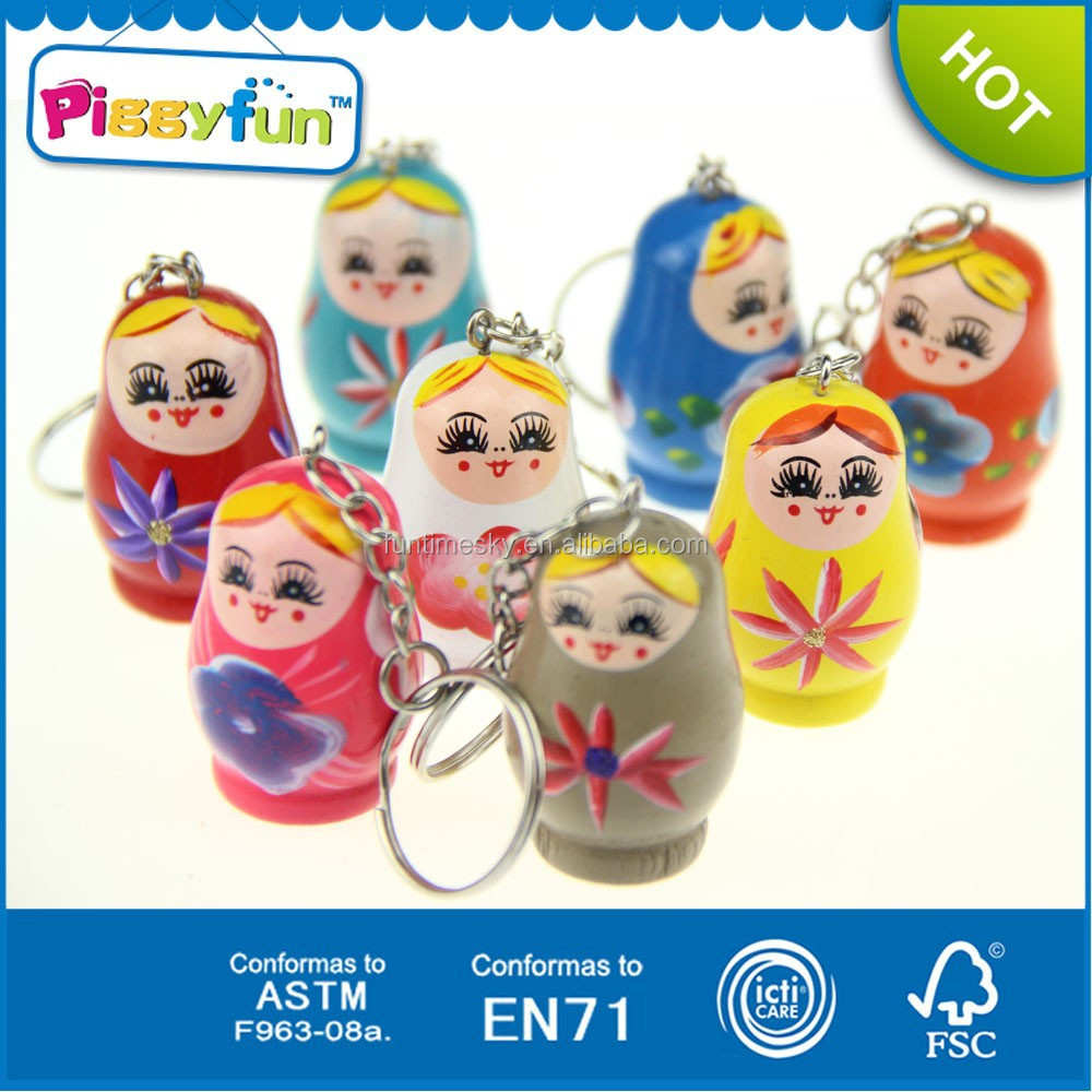 2014 newest promotion gifts colourful matryoshka doll key chain AT11552