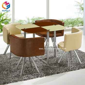 Elegant hotel 6 seater dining set