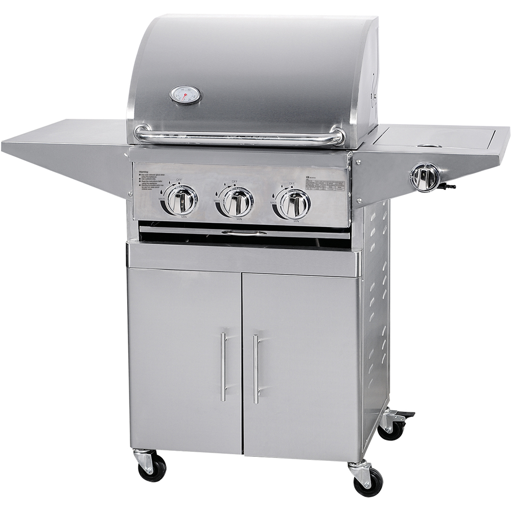 Indoor vertical stainless steel table top gas bbq grill