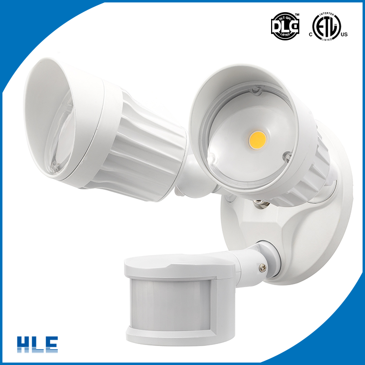 Modern appearance DLC ETL led security light smd cob with human body sensor