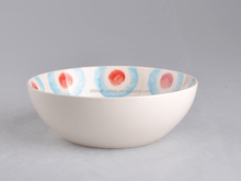 "2015 American style for 7.5"" light blue stoneware ceramic soup bowl without handle, 16pcs dinnerware sets for wholesale"