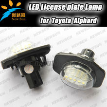 Top quality Error free E-mark CE certificate LED License Plate Light for Toyota Alphard Auris Corolla Wish Sienna Urban Scion xB