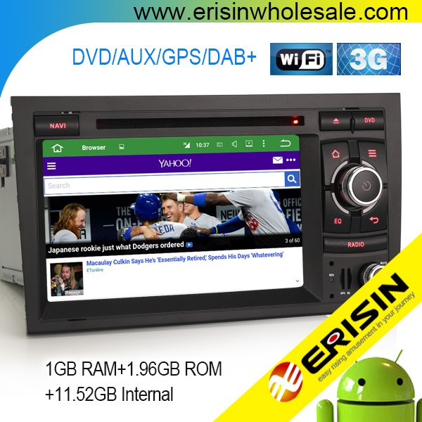 "Erisin ES4028A 7"" SEAT EXEO Auto Radio 2 Din Android 5.1 Car DVD Player GPS"