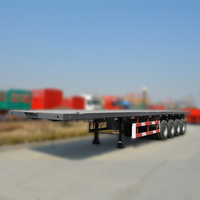 China factory 3 Axle 40ft Flatbed container 20ft semi trailer in hot sale