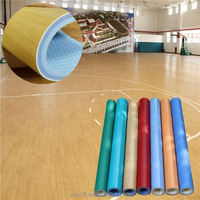2016 new hot fashion non-slip basketball court wood look sport pvc floor