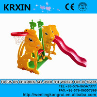 small playground set plastic HDPE swing and slide for kids