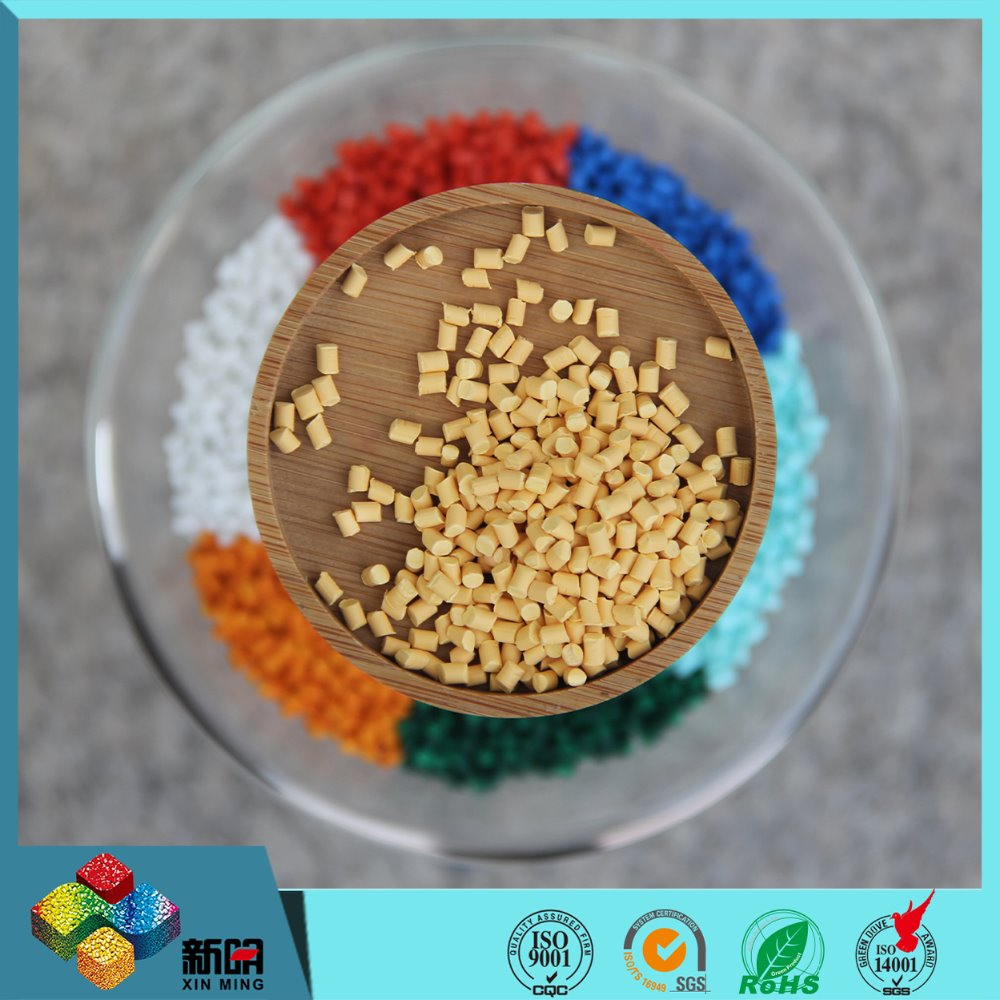 Yellow color masterbatch for plastic products