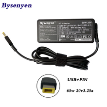 Hot-sale New 20v 3.25A 65w USB pin Laptop AC adapter Power Adapter charger for Lenovo