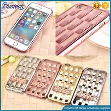 Factory supply kick stand electroplated TPU phone case for iphone 6s plus