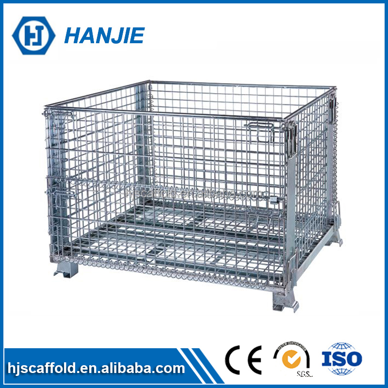 Heavy loading 2000kg galvanized iron welding stack storage box