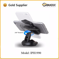 Universal rotating portable cell phone holder for car