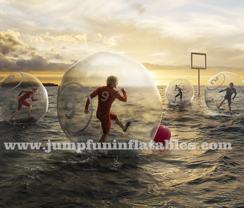 PVC or TPU ball games Inflatable Water Bubble Football