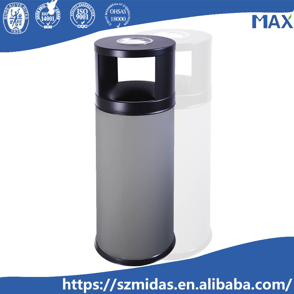 indoor grey dustbin model galvanized ash waste bin