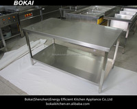 stainless steel kitchen work table/double table working/working table